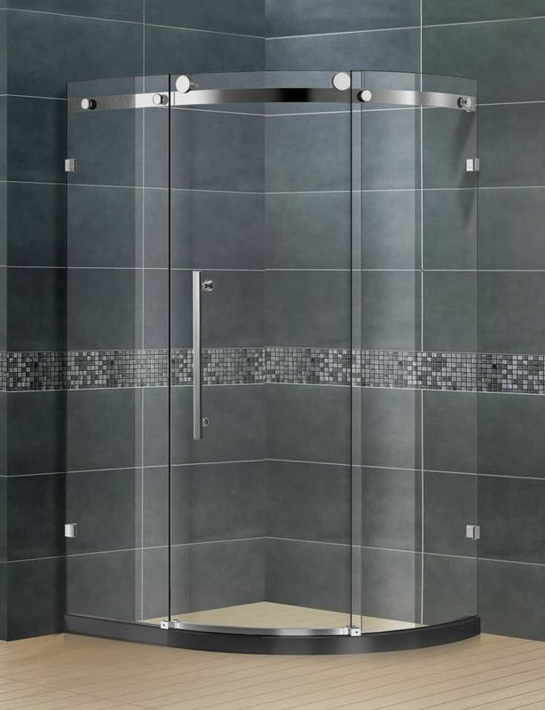 Frameless 304 Stainless  Glass Shower Doors 8 / 10 Glass SGCC Certification for Home / Hotel